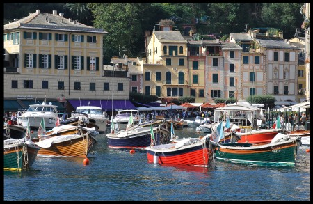 coloureds boats in Portofino